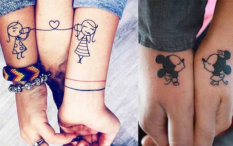 tatouage d'amitié personnages